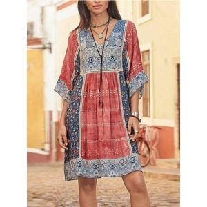 Sundance   100% Rayon Boho Tunic Dress